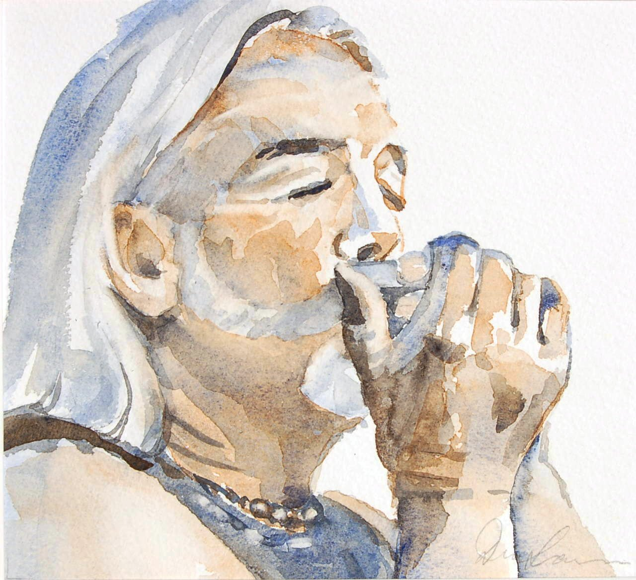 Paul (Zooney) Alexander - Watercolour (22cmx20cm)