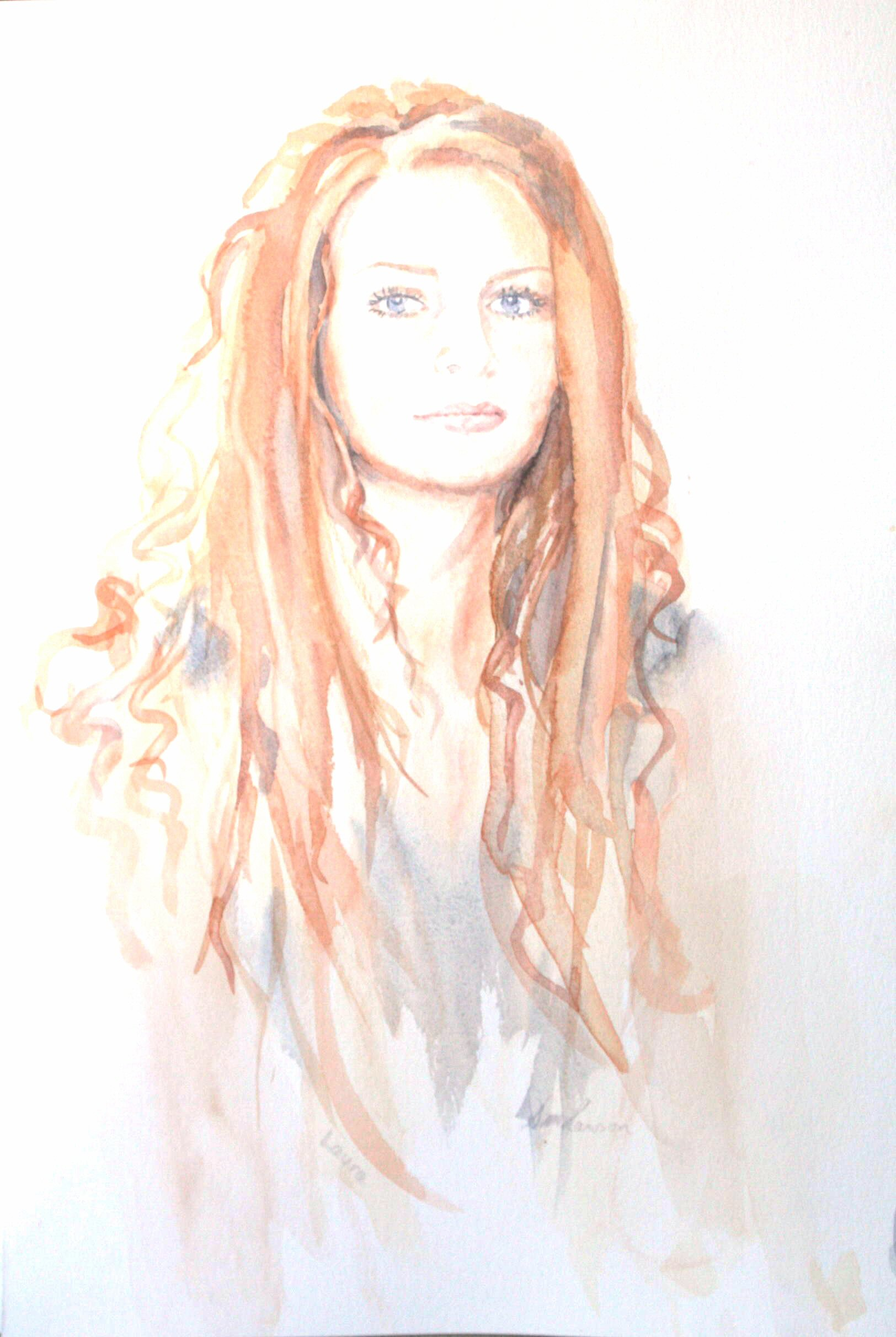 Laura - Watercolour (29cmx49cm)