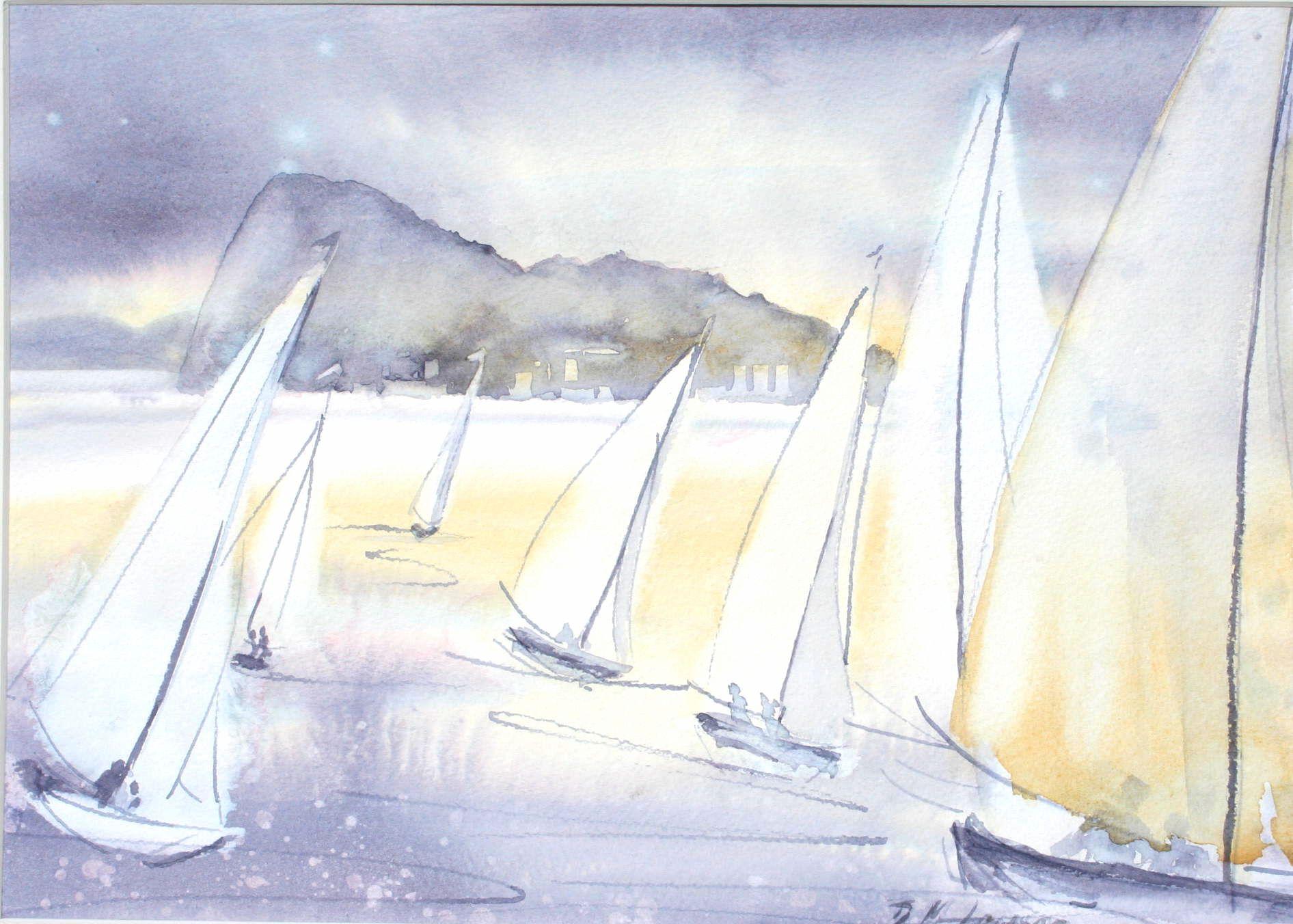 Gibraltar Regattas No 2 - 38cm x 27cm