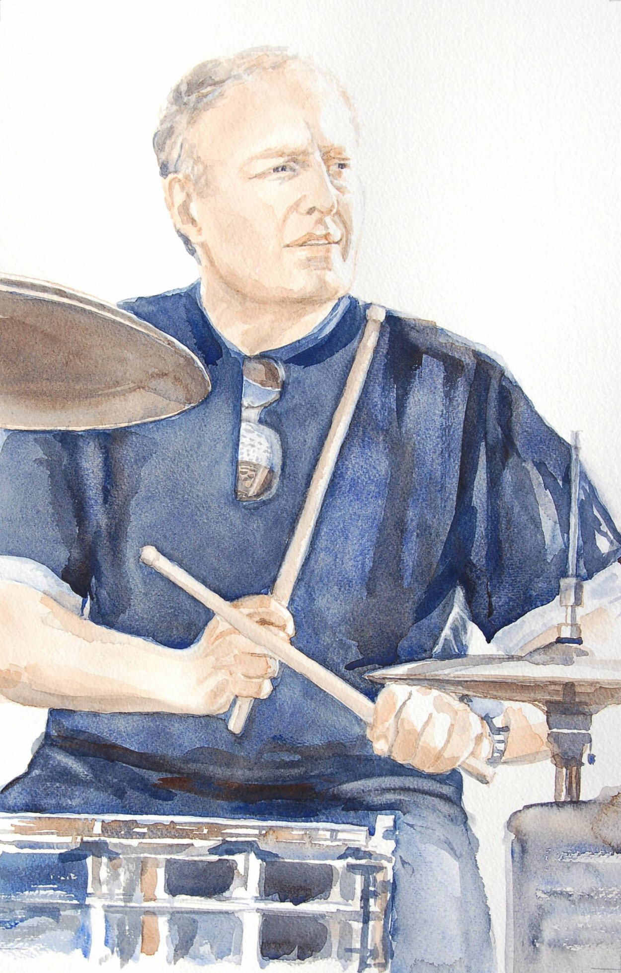 Iain Curry - Watercolour (30cmx46cm)