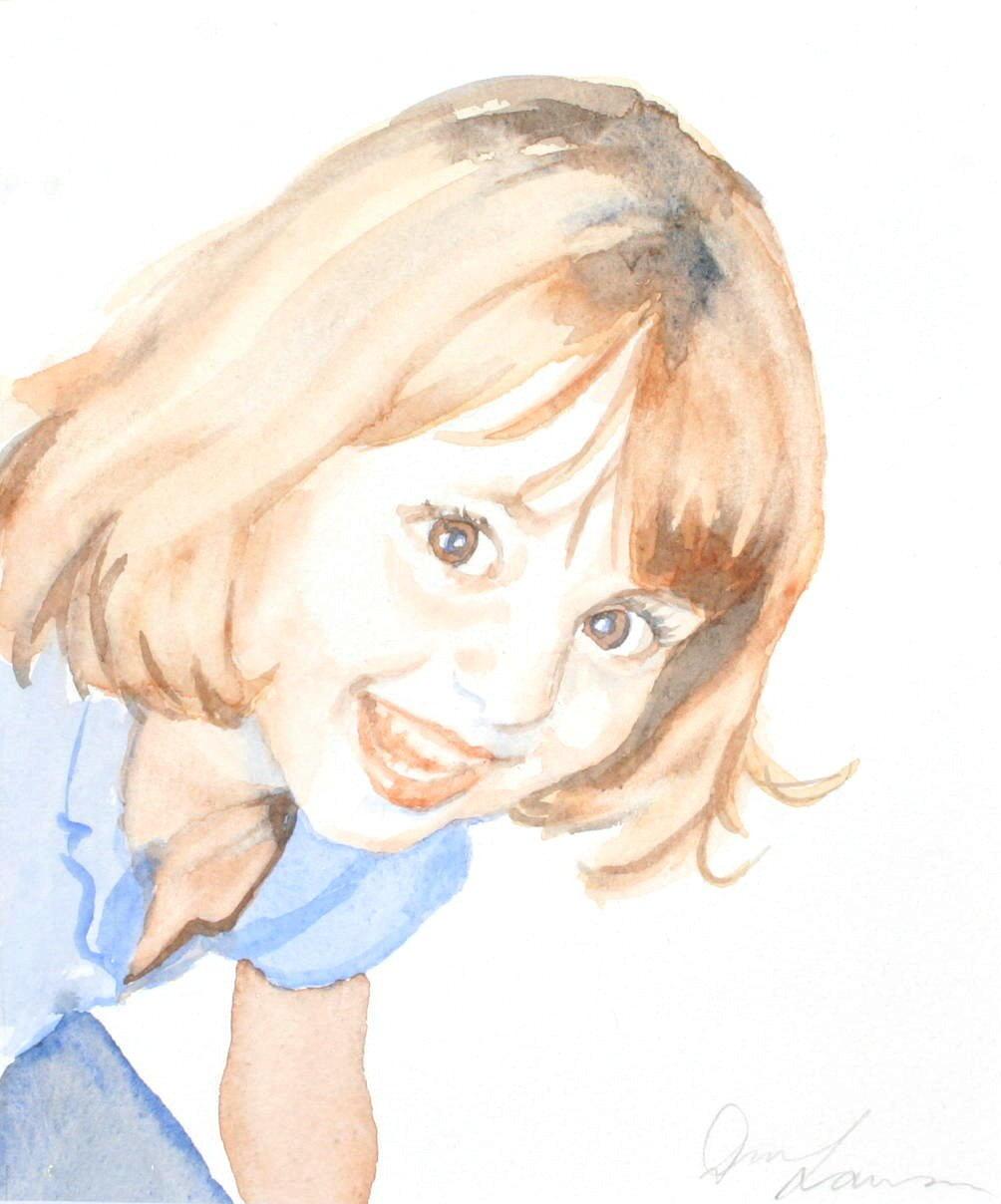Caroline - Watercolou (15.5cmx18.5cm)
