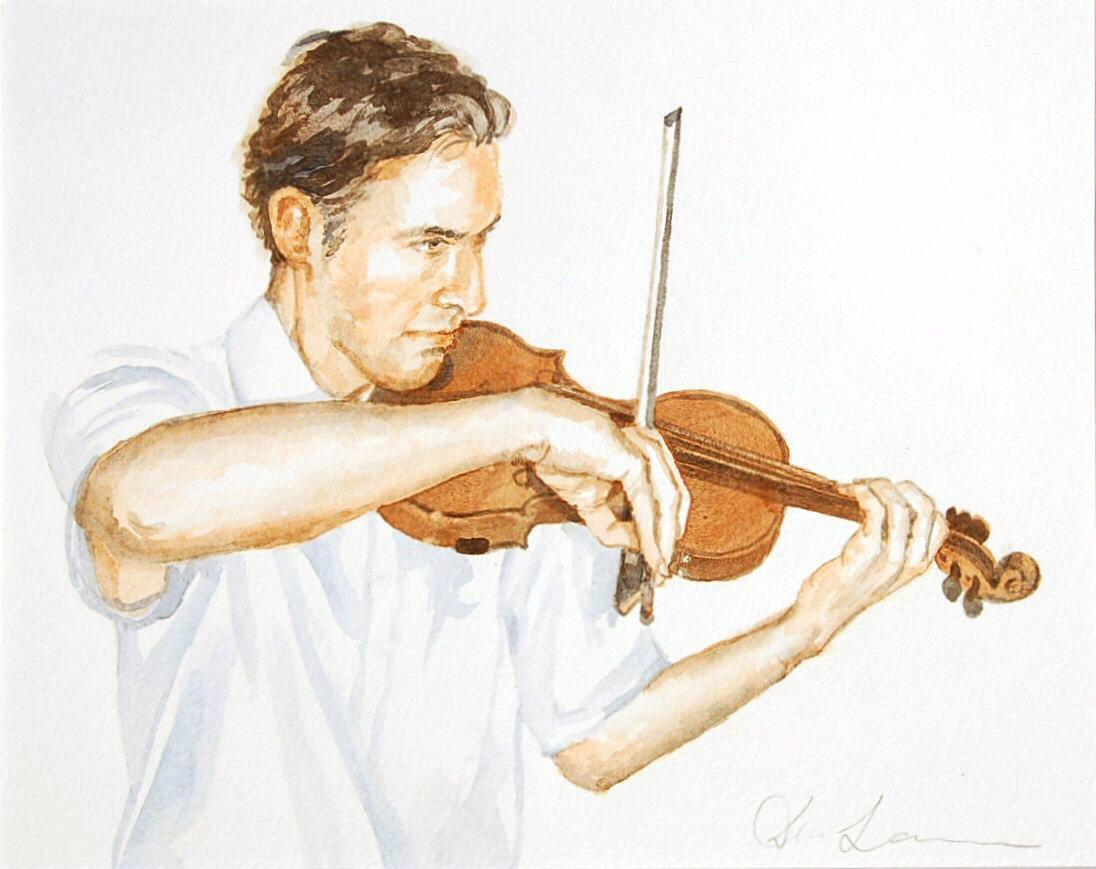 Francis Imossi - Watercolour (35cmx28cm)