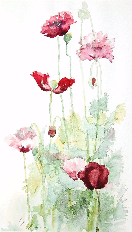 Poppies 1 (39cm x 50cm)