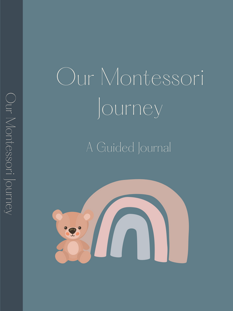 Our Montessori Journey: A Guided Journal for Parents (Teal Blue, Matte)