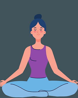 Woman meditating peacefully
