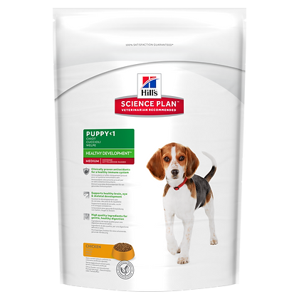 Puppy Healthy Development Medium Dog Food with Chicke