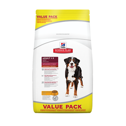 Adult 1-6 Advanced Fitness Large Breed Dog Food with Chicken