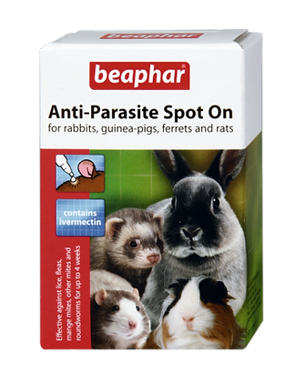 Anti-Parasite Spot On Rabbit/Guinea Pig/Ferret/Rat