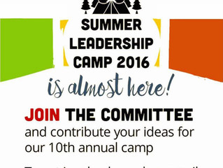 Sign up for the Summer Leadership Camp Committee