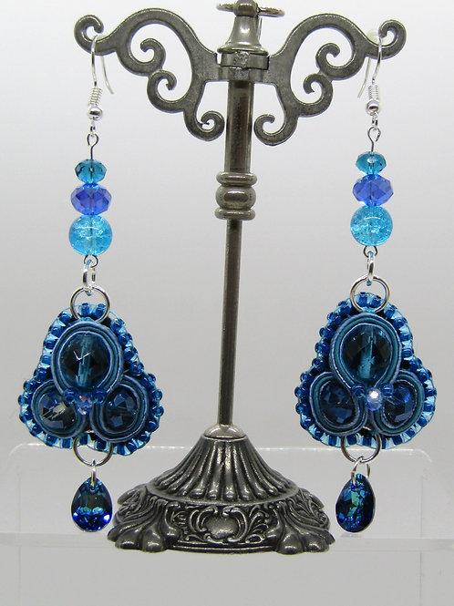 Bermuda Blue Pear Drop Earrings
