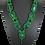 Thumbnail: Malachite and Emerald Cat's Eye Necklace