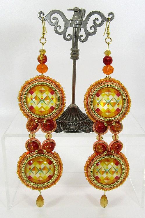 Aztec Disco Earrings