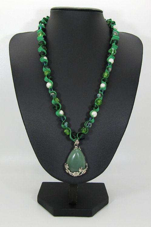 Green Aventurine Teardrop Necklace