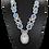 Thumbnail: Swarovski Pear Crystal and Opal Drop Necklace