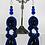 Thumbnail: Night Cairo Blue Goldstone Drop Earrings