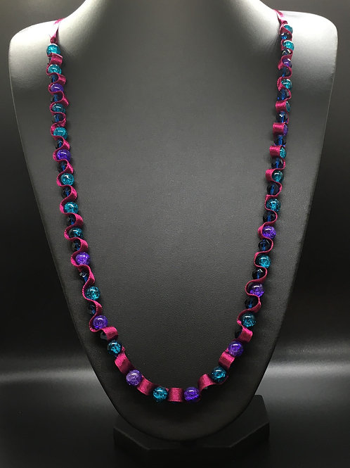 Burgundy Crackle Necklace