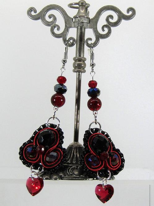 Swarovski Scarlet Heart Earrings