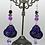 Thumbnail: Swarovski Purple Heart Earrings