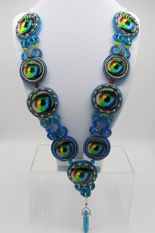 Multi Rainbow Eye Necklace