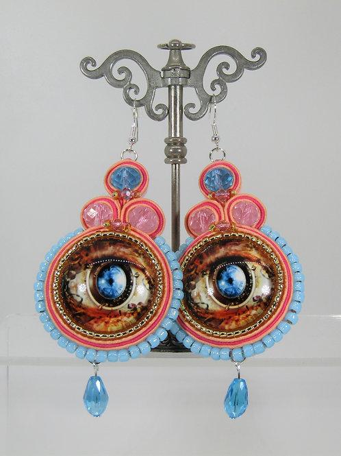 Steampunk Eye Earrings