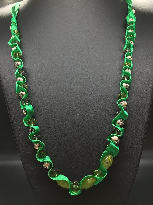 Green Swirl Necklace