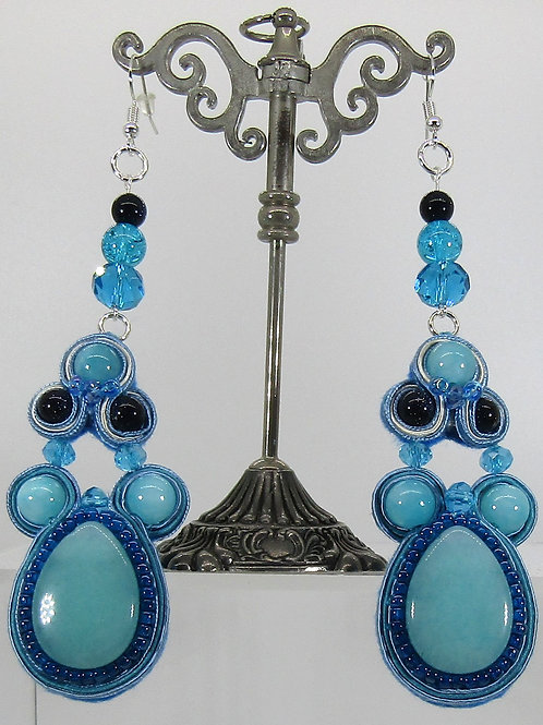 Light Blue Teardrop Earrings
