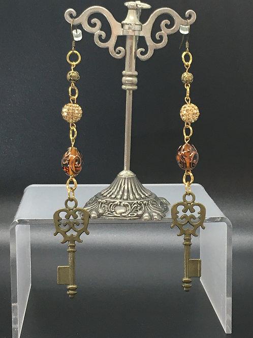 Large Key Earrings