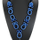 Thumbnail: Night Cairo Blue Goldstone Drop Necklace