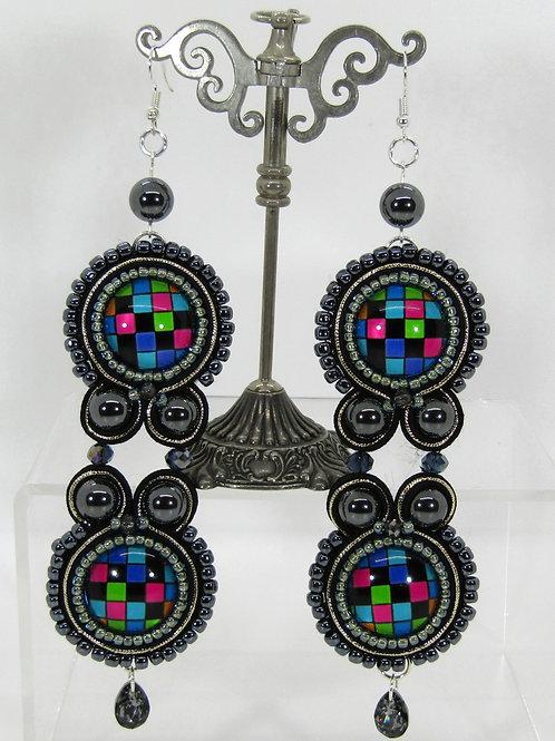 Hematite Disco Earrings
