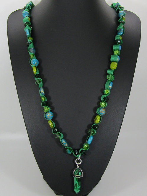 Green Marble Chakra Necklace
