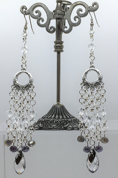 Swarovski Metallic Drop Earrings