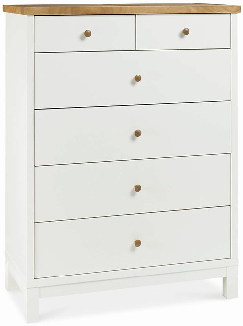 Atlanta Two Tone 4+2 Drawer Chest