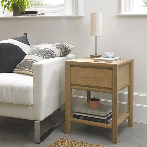 Bergen Oak 1 Drawer Lamp Table