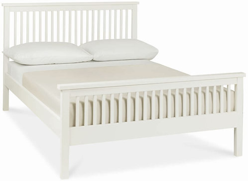 Atlanta Soft White High Foot End Bedstead