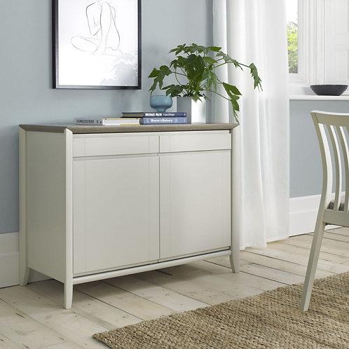 Bergen Grey Washed Oak and Soft Grey 2 Door 2 Drawer Narrow Side