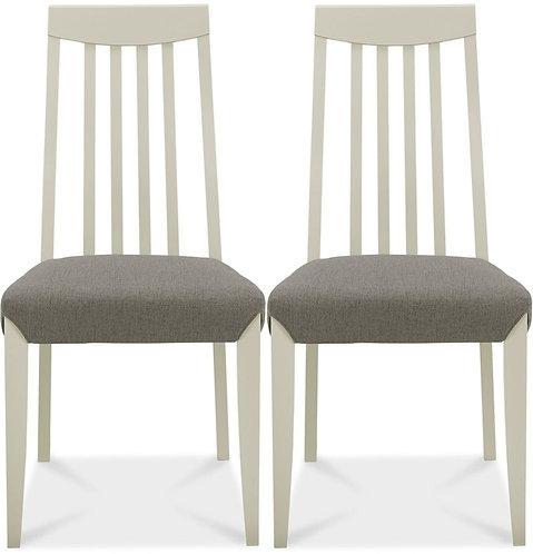 Bergen Soft Grey Titanium Fabric Seat Slat Back Dining Chair (Pa