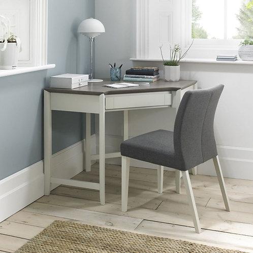 Bergen Grey Washed Oak and Soft Grey Corner Desk