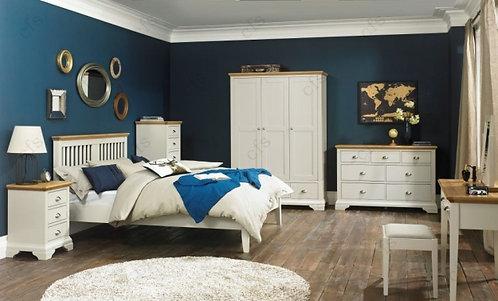 Hampstead Soft Grey and Oak Triple Wardrobe