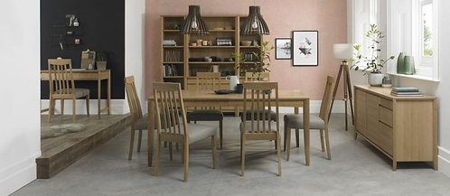 Bergen Oak 6-8 Seater Rectangular Extending Dining Table - 180cm