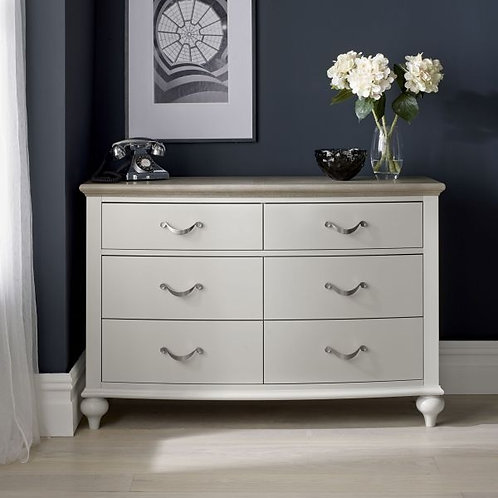 Montreux Grey Washed Oak and Soft Grey 6 Drawer Chest