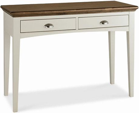 Hampstead Soft Grey and Walnut Dressing Table