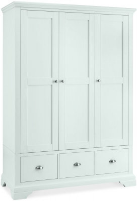Hampstead White 3 Door Triple Wardrobe