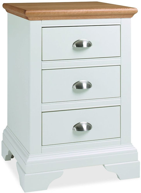 Hampstead Two Tone 3 Drawer Bedside Cabinet