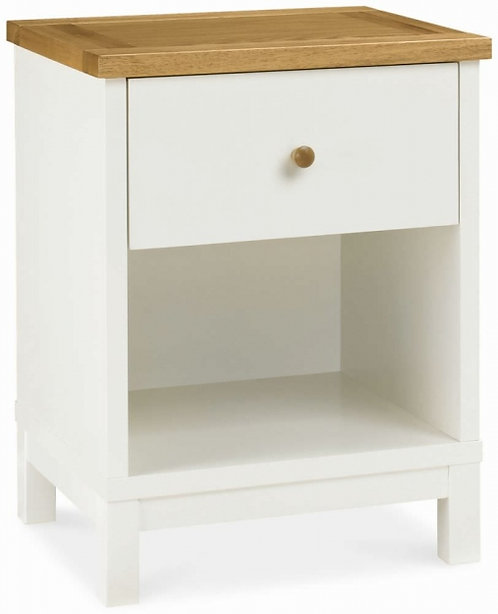 Atlanta Two Tone 1 Drawer Bedside Table