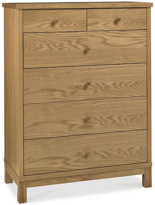 atlanta oak 4 plus 2 drawer set