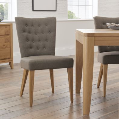 High Park Upholstered Dining Chair- Black Gold (Pair)