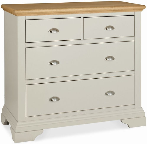 Hampstead Soft Grey and Oak 2+2 Drawer Chest