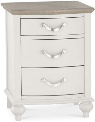 Montreux Grey Washed Oak and Soft Grey 3 Drawer Bedside Cabinet