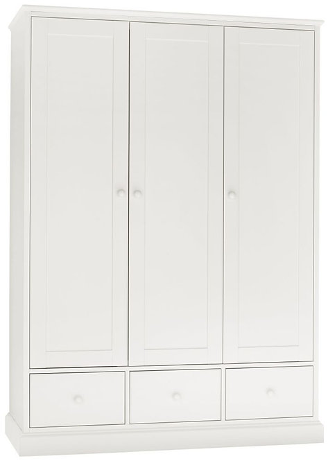 Ashby White 3 Door Triple Wardrobe