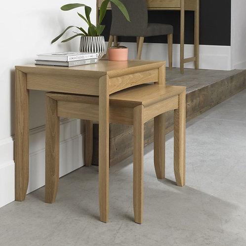 Bergen Oak Nest of 2 Tables
